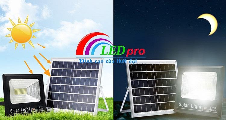 Quy trình hoạt động đèn pha năng lượng mặt trời