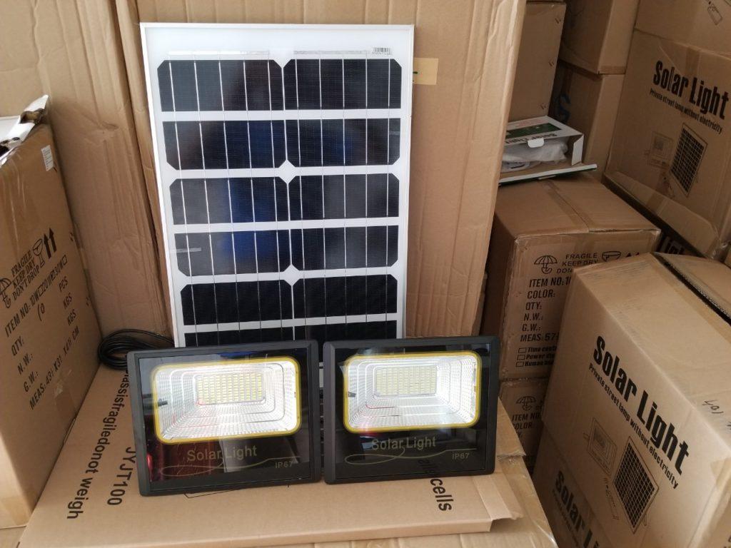 đèn pha led NLMT 1 panels đi 2 đèn tại huyện Nhà Bè