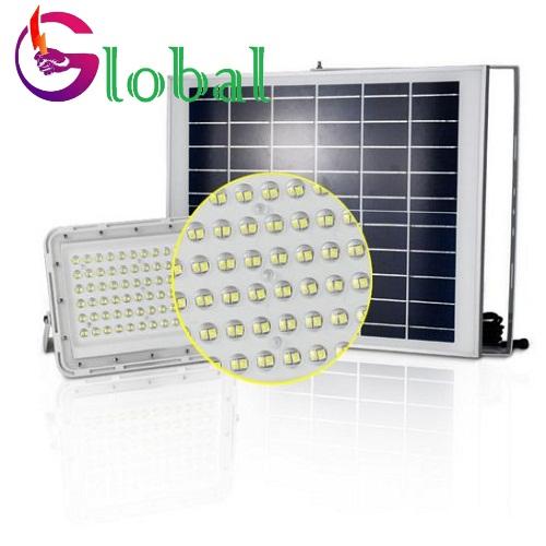 đèn pha năng lượng mặt trời tổ ong trắng 100w