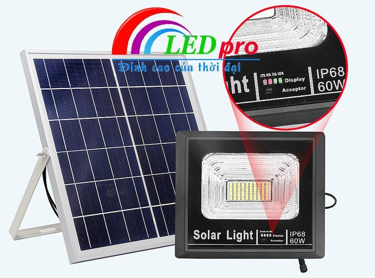 Hệ thống báo sạc pin đèn pha năng lượng mặt trời
