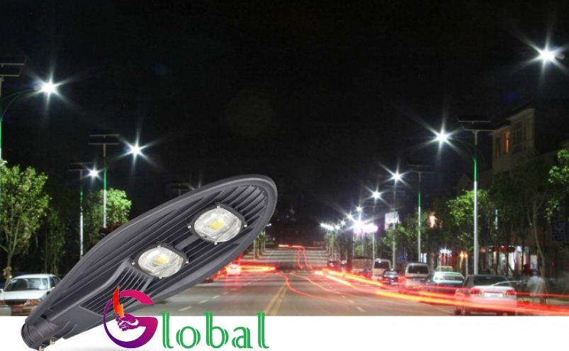 ứng dụng đèn đường led 100w chiếc lá