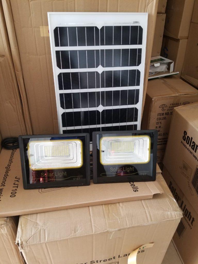 đèn pha led NLMT 1 panel đi 2 đèn tại huyện Bình Chánh