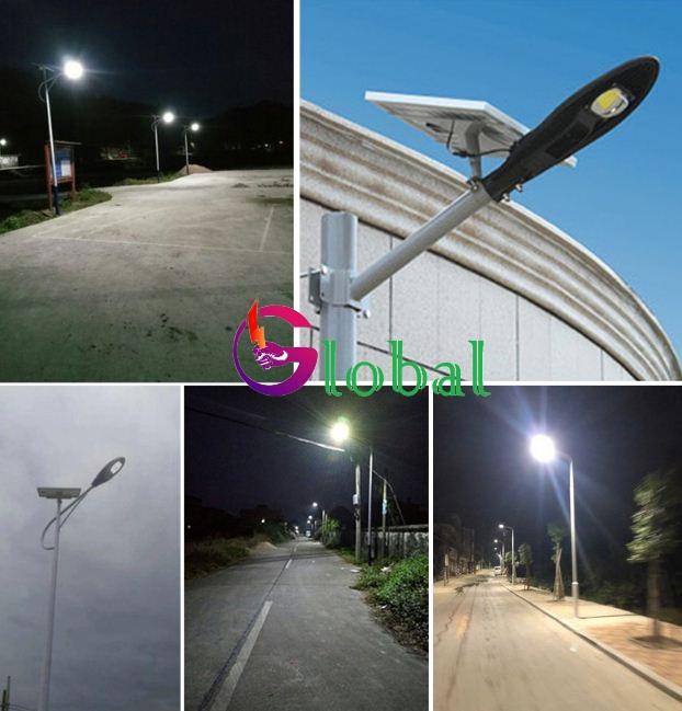 đèn đường chiếc lá nlmt chiếu sáng đường phố