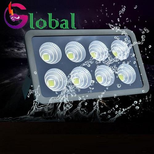 đèn led pha ly 400w chống nước