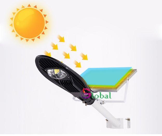đèn đường năng lượng mặt trời hình chiếc lá