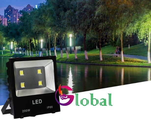 ứng dụng chiếu sáng đèn pha led 200w chống nước