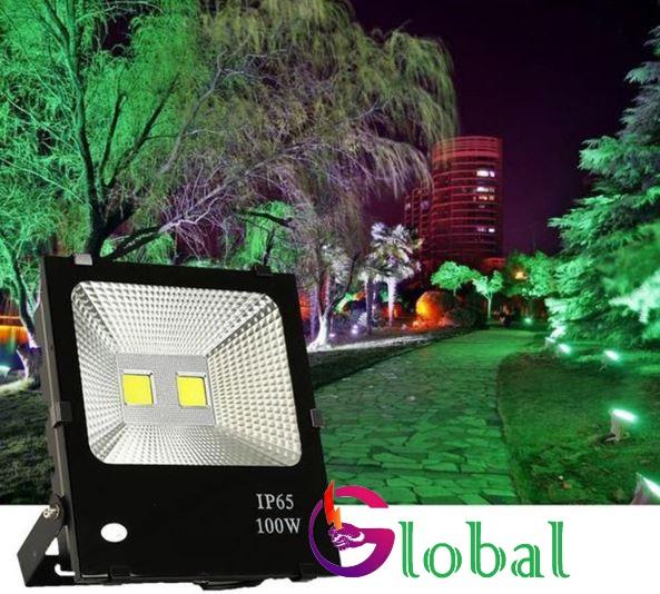 ứng dụng chiếu sáng đèn pha led chống nước 100w