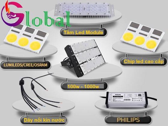 đèn pha led module chống nước chiếu sáng ngoài trời